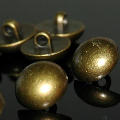一包10顆, 古銅色縫紉塑膠鈕釦 圓形鈕扣 直徑1.5公分
