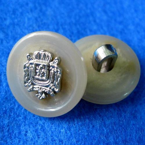 一包10顆, 塑膠鈕釦 貴氣圓形鈕扣 直徑1.8公分