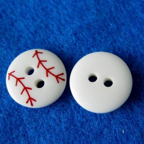 10顆組,白色圓形鈕釦 兩孔鈕扣 直徑1.2公分