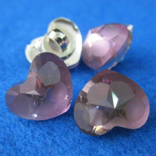 10個水晶愛心樣式縫紉扣