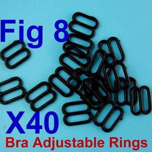 40個內衣睡衣胸罩8字型扣環內尺寸10mm, 外尺寸13mm