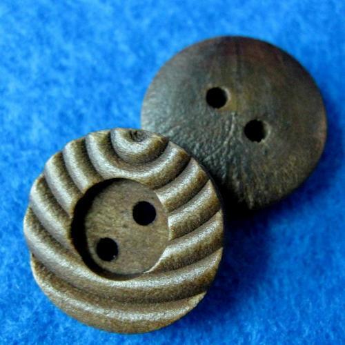 10顆組, 典雅木質鈕釦, 兩孔鈕扣 直徑1.8公分