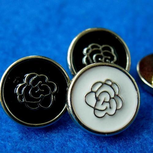 10個玫瑰樣式縫紉扣