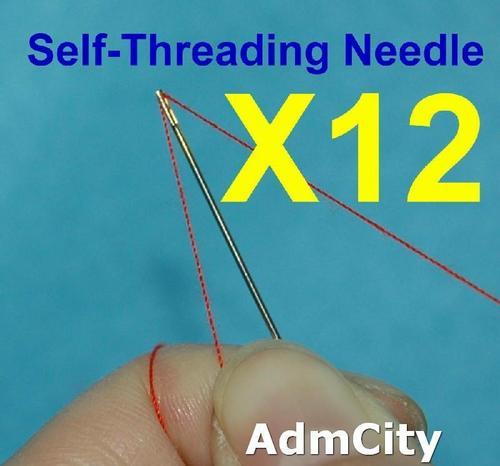 一包12根, 免穿線免穿針 縫衣針手縫針 盲人針老人針 線由上向下壓即可使用