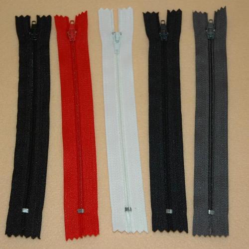 5件組, 尼龍拉鏈 長褲子拉鏈, 拉鏈部分19公分, 全長23.5公分