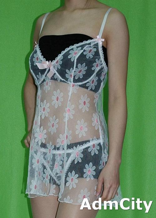 蕾絲 內建鋼絲 性感小夜衣  + 細線丁字褲.