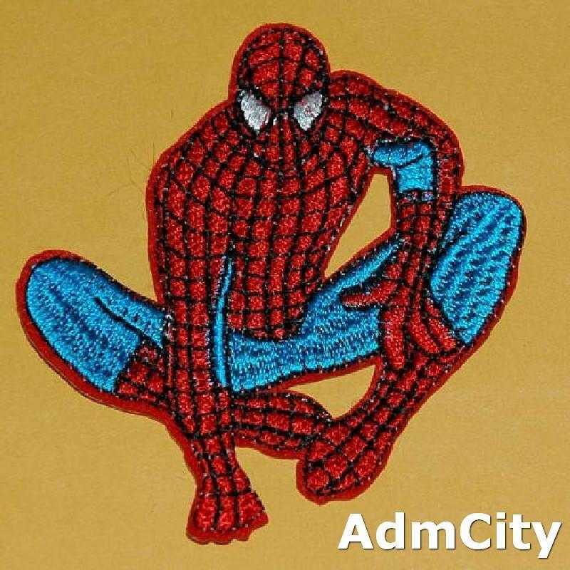 蜘蛛人服飾配件DIY手工藝刺繡燙布/燙貼布/熨燙徽章/貼花 7X7公分