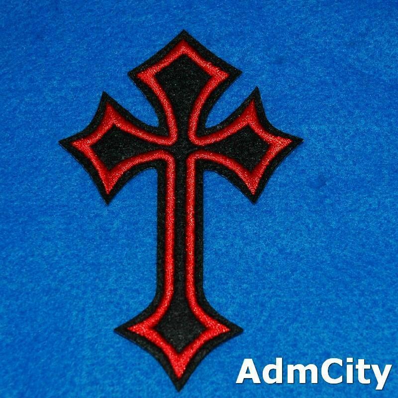 耶穌十字架服飾配件DIY手工藝刺繡燙布/燙貼布/熨燙徽章/貼花