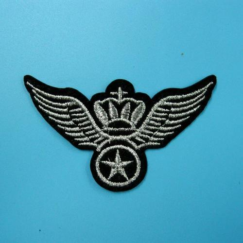 軍隊警察翅膀服飾配件DIY手工藝刺繡燙布/燙貼布/熨燙徽章/貼花