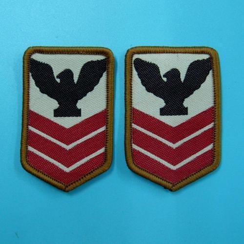 2片軍隊警察服飾配件DIY手工藝刺繡需手縫徽章/貼花