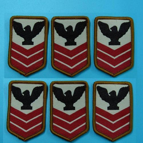 6片軍隊 警察服飾配件DIY手工藝刺繡需手縫徽章/貼花