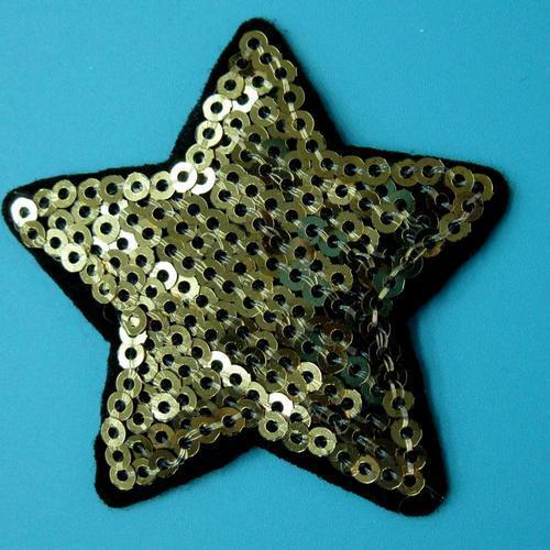 金色閃耀亮片星星服飾配件DIY手工藝刺繡燙布/燙貼布/熨燙徽章/貼花