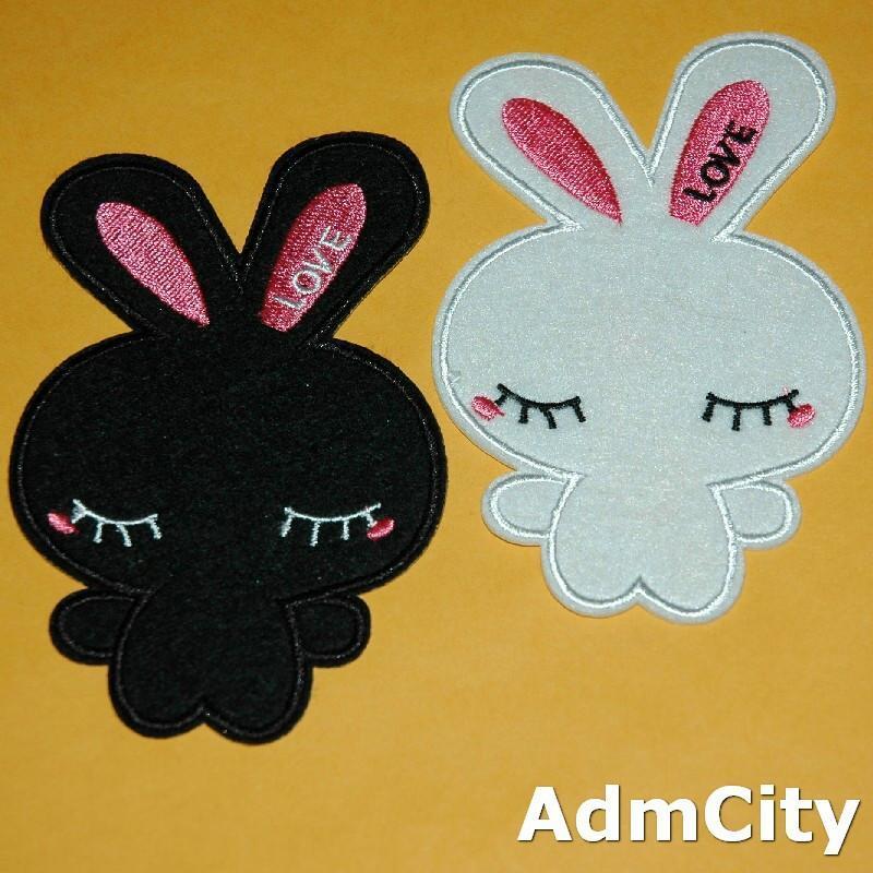 兔子服飾配件DIY手工藝刺繡燙布/燙貼布/熨燙徽章/貼花