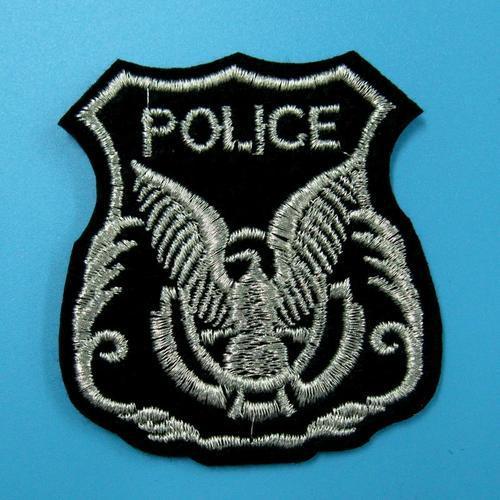 警察警官老鷹服飾配件DIY手工藝刺繡燙布/燙貼布/熨燙徽章/貼花