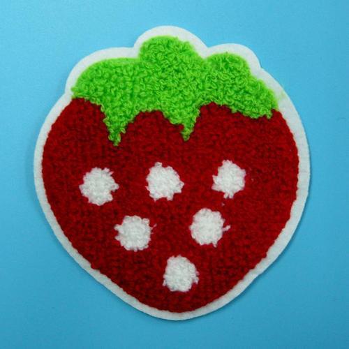 草莓水果食物服飾配件DIY手工藝刺繡徽章/貼花/需手縫
