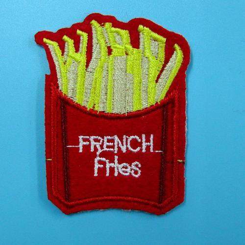 法國炸薯條服飾配件DIY手工藝刺繡燙布/燙貼布/熨燙徽章/貼花