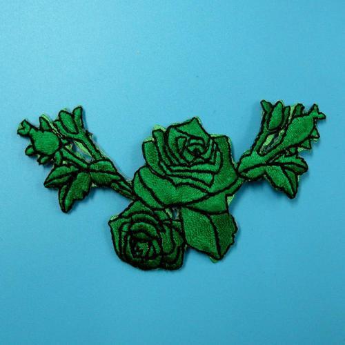 玫瑰花色服飾配件蕾絲洋裝DIY手工藝刺繡燙布/燙貼布/熨燙徽章/貼花