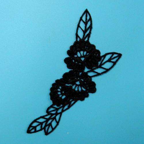玫瑰花葉服飾配件蕾絲洋裝DIY手工藝刺繡徽章/貼花/需手縫