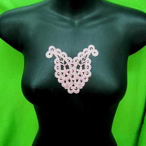 玫瑰花色葉狀服飾配件蕾絲洋裝DIY手工藝刺繡徽章/貼花/需手縫