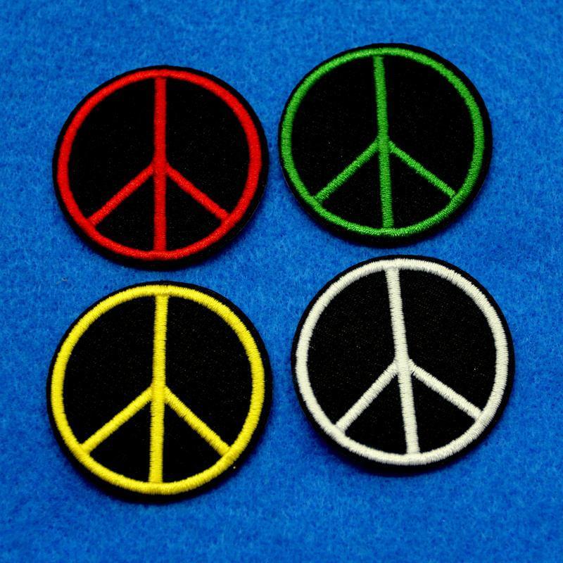 反戰和平象徵服飾配件DIY手工藝刺繡燙布/燙貼布/熨燙徽章/貼花
