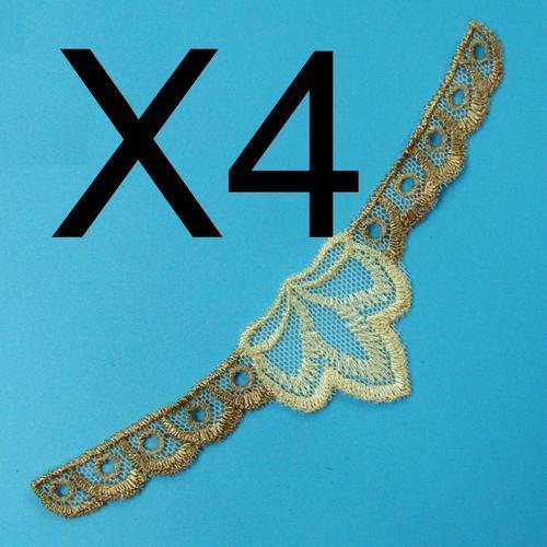 4片花貼服飾配件DIY手工藝刺繡徽章/貼花/需手縫