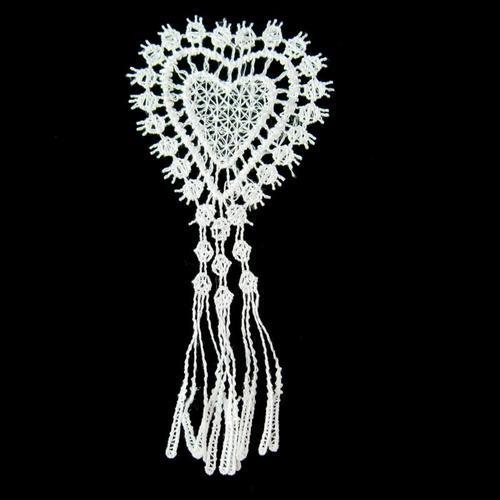 蕾絲愛心流蘇服飾配件DIY手工藝刺繡徽章/貼花/需手縫