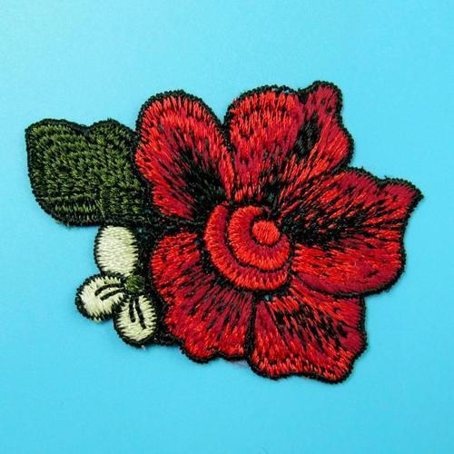 玫瑰花葉服飾配件洋裝DIY手工藝刺繡徽章/貼花/需手縫