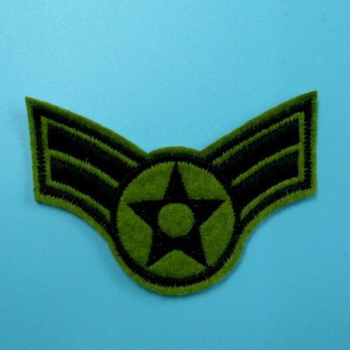空軍翅膀星星軍隊警察服飾配件DIY手工藝刺繡燙布/燙貼布/熨燙徽章/貼花