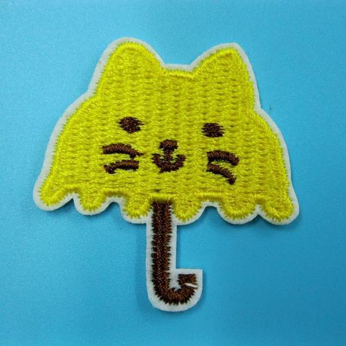 小貓雨傘嬰孩服飾配件DIY手工藝刺繡燙布/燙貼布/熨燙徽章/貼花