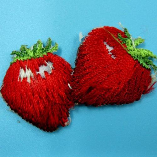 草莓水果食物服飾配件DIY手工藝刺繡燙布/燙貼布/熨燙徽章/貼花