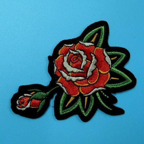 可愛玫瑰花色服飾配件DIY手工藝刺繡燙布/燙貼布/熨燙徽章/貼花