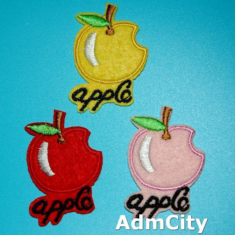 蘋果apple服飾配件DIY手工藝刺繡燙布/燙貼布/熨燙徽章/貼花