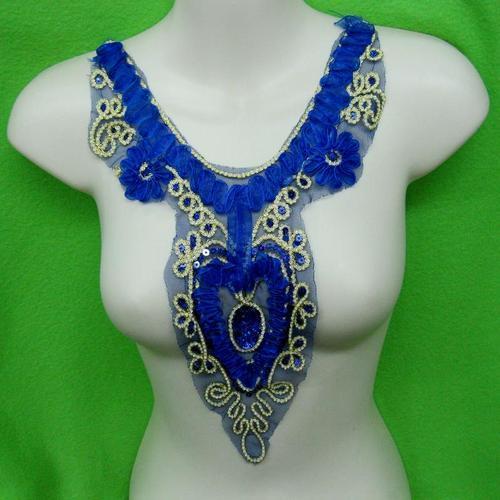 藍玫瑰花服飾配件洋裝DIY手工藝刺繡徽章/貼花/需手縫