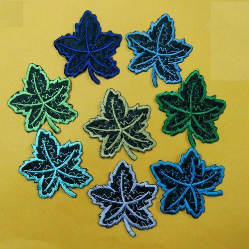 2片楓葉服飾配件DIY手工藝刺繡燙布/燙貼布/熨燙徽章/貼花