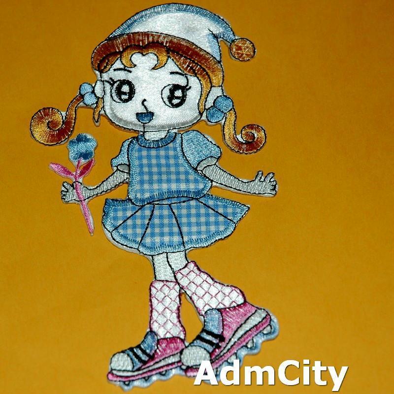 女孩洋娃娃花花服飾配件DIY手工藝刺繡燙布/燙貼布/熨燙徽章/貼花