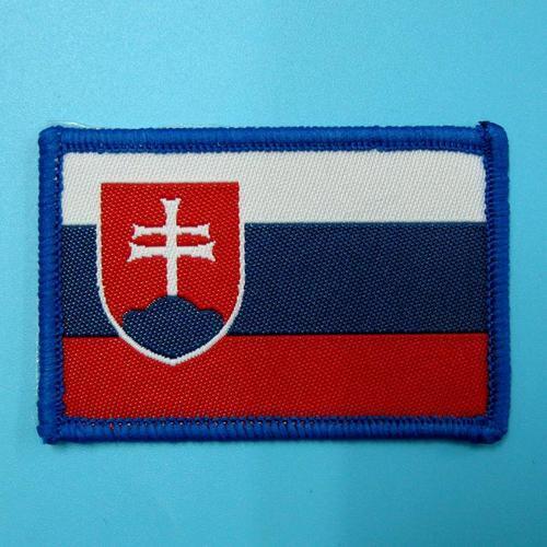 斯洛伐克國旗服飾配件DIY手工藝刺繡燙布/燙貼布/熨燙徽章/貼花