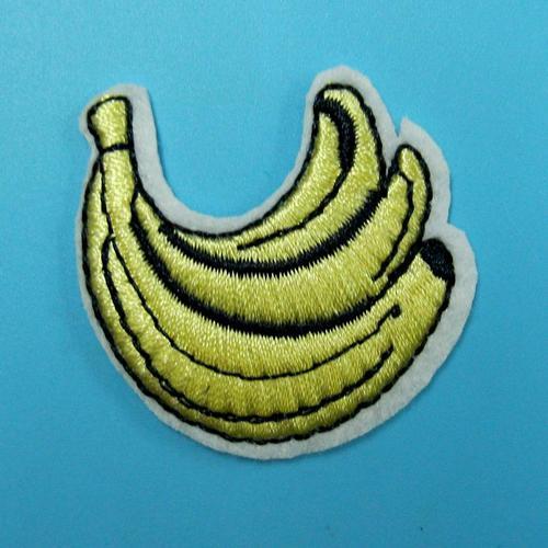 香蕉食物貼片服飾配件DIY手工藝刺繡燙布/燙貼布/熨燙徽章/貼花