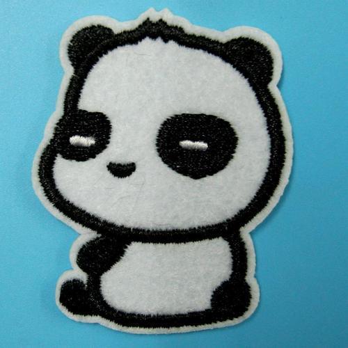 可愛貓熊服飾配件DIY手工藝刺繡燙布/燙貼布/熨燙徽章/貼花