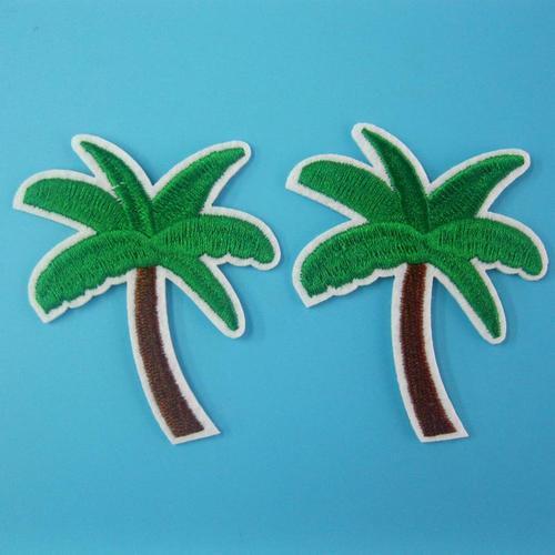 2片棕櫚樹木服飾配件DIY手工藝刺繡燙布/燙貼布/熨燙徽章/貼花