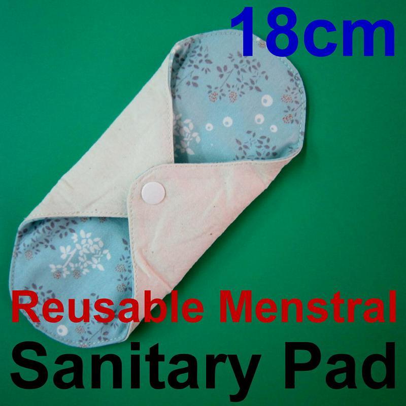 日用少量/一般流量/護墊/經期前後/漏尿 天然純棉布衛生棉18cm 有防水層手工製作 環保健康可水洗重複使用,