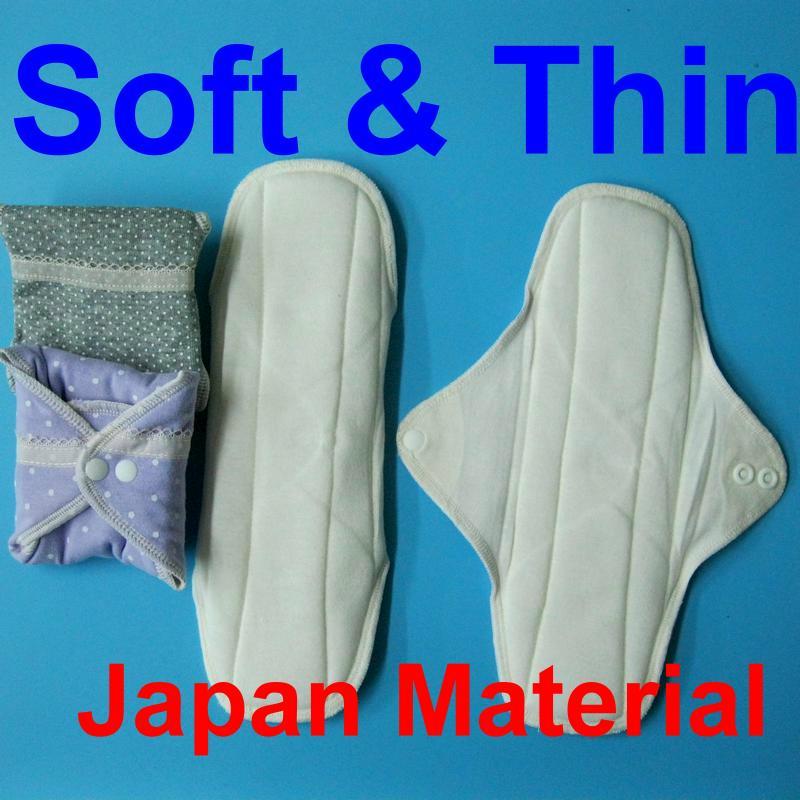 日單/日用一般流量/成人漏尿 天然純棉布衛生棉24cm 有防水層 環保健康可水洗重複使用