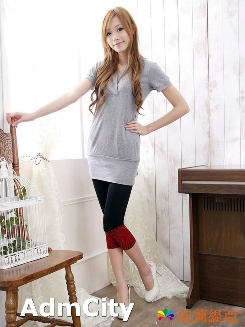 Two Tone Opaque Spandex Footless Tight Leggings Match Most ...