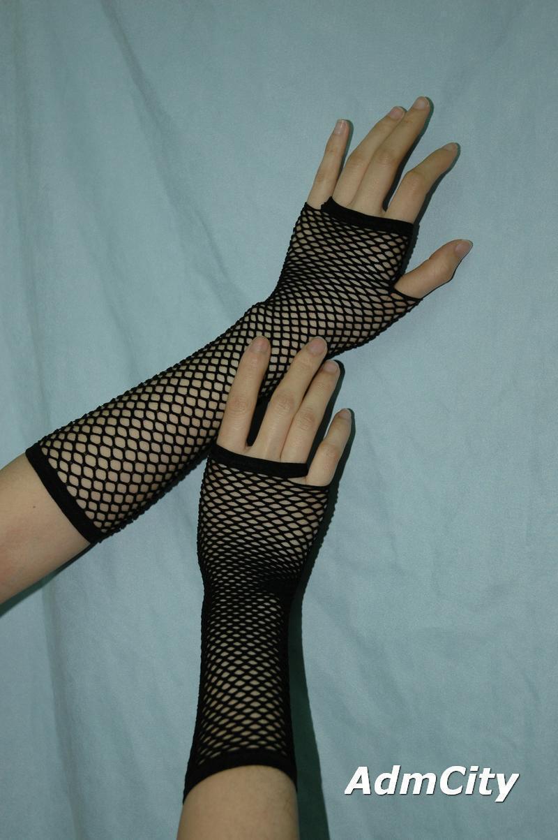 露指 手套.