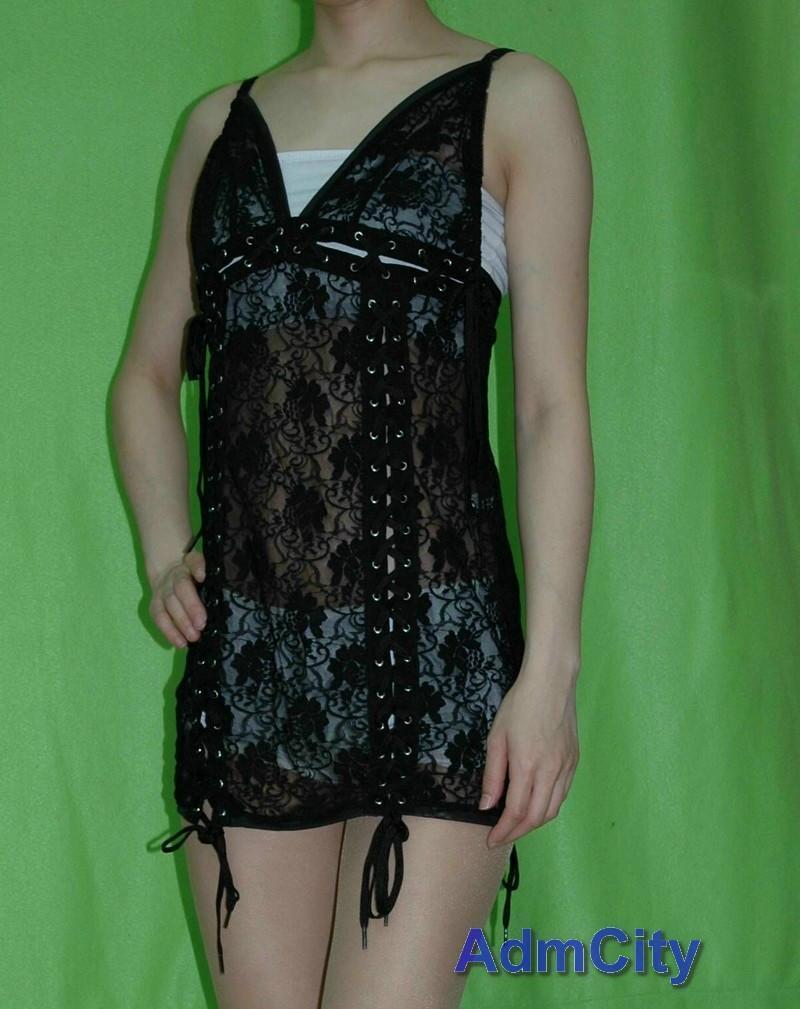 2 件式組. 蕾絲 洋裝 + 細線丁字褲.