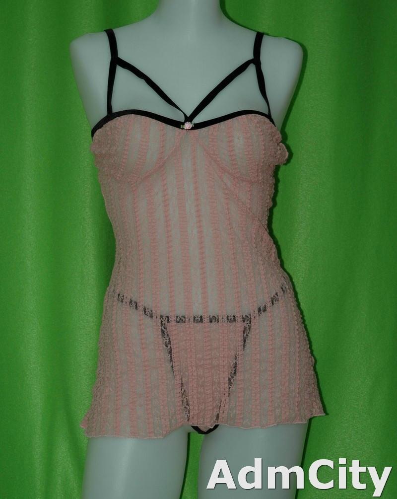 2 件式組. 蕾絲 性感內衣/睡衣 + 細線丁字褲.