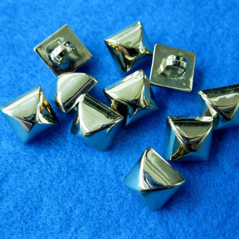 10個方塊樣式縫紉扣